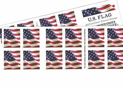 USPS Us-Flag-Forever-Stamps-40 US Flag Forever Stamps - 40 Stamps (Two Books of