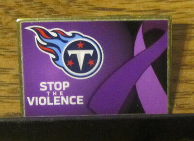 """NFL Football Tennessee Titans """"Stop The Violence"""" Pinback Stud Pin"""