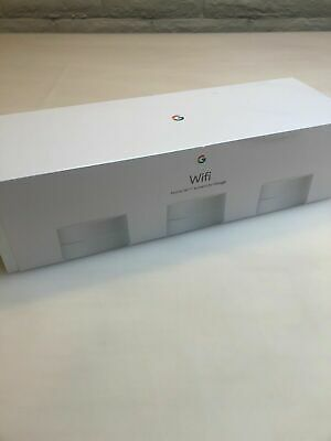 Brand New Google Wifi AC1200 Dual-Band Mesh Wi-Fi Router System–Pack of 3, White