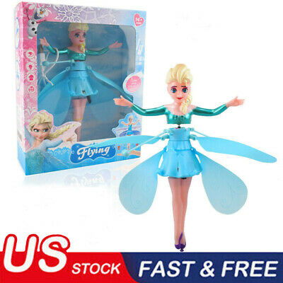 Flying Fairy Princess Balls Dolls Infrared Induction Control Kids Toy Xmas Gift