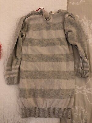 Next Girls Christmas Jumper Grey Age 2-3 Years