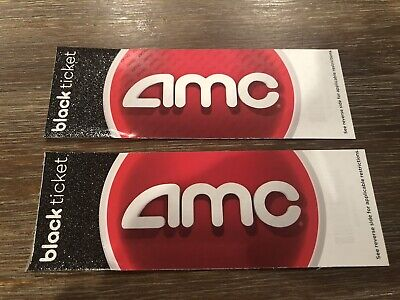 2 AMC Movie Theater Black Ticket Vouchers Tickets - No Expiration