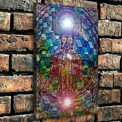"""12""""x18""""Painted buddha HD Canvas prints painting Home Decor room Wall Picture art"""