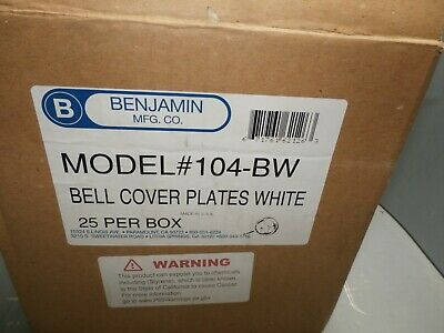 25 Pack NEW 104-BW COVER PLATE (WHITE)