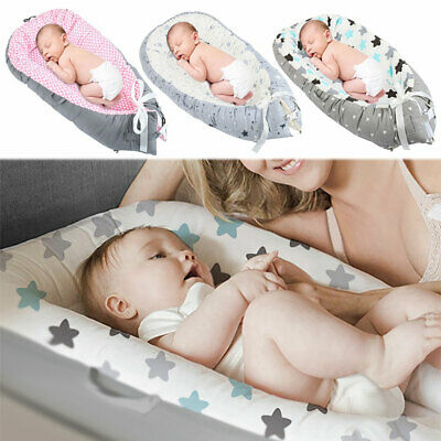 Newborn Baby Sleep Bed Nest Travel Reversible Cushion Cocoon Infant Pod Mat Gift