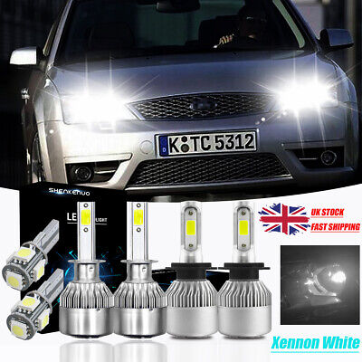 Ford Mondeo MK3 1.8 501 W5W 4-LED Xenon White Side Lights Upgrade Bulbs XE5