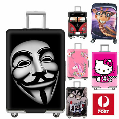 """18-32""""Travel Protective Luggage Dust Cover Elastic Thick Suitcase Protector Bag"""