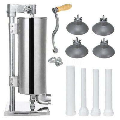 4L Sausage Filler Stuffer Meat Maker Commercial Machine Stainless Steel + Stand