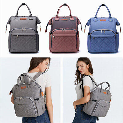 AU New LEQUEEN Large Mummy Maternity Nappy Diaper Bag Baby Bag Travel Backpack