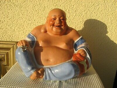 GROSSER HAPPY BUDDHA GLÜCKSBUDDHA PORCELAIN PORZELLAN CHINA 20.Jh.