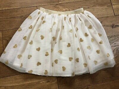 Girls H&M Net Skirt Tutu With Glitter Hearts 6 - 7 Years Christmas Party