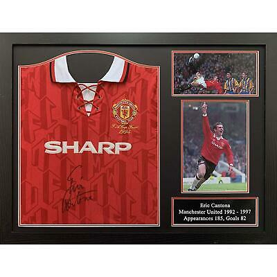Eric Cantona Autographed Manchester United Framed And Signed 1994 Shirt