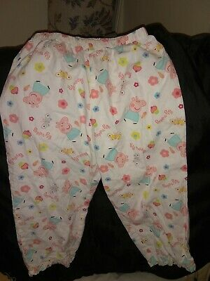 Peppa Pig PJ Bottoms / Trousers For Girl Age 3 - 4 Years Excellent Condition