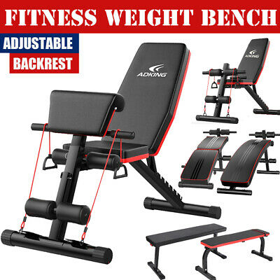 Folding Adjustable Sit Up Press AB Incline Abs Bench Flat Fly Weight Workout