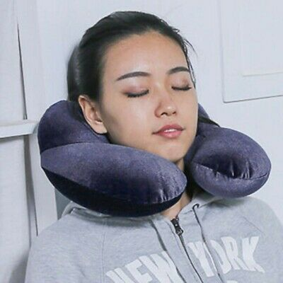 AU Travel Air Inflatable U Shaped Pillow Neck Rest Cushion Support Flight Office
