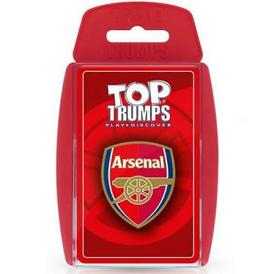 Arsenal FC Official Crested Top Trumps Card Game Present Gift The Gunners