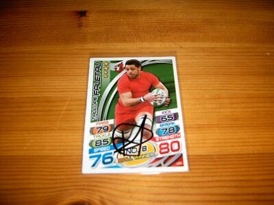2015 Rugby Attax   #152. Taulupe Faletau  (Wales)    signiert