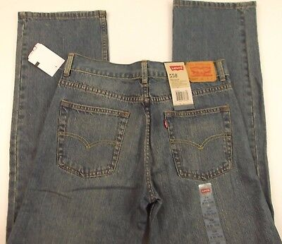 Levis 550 Mens Blue Jeans Size 30x30 Boys Size 20 New
