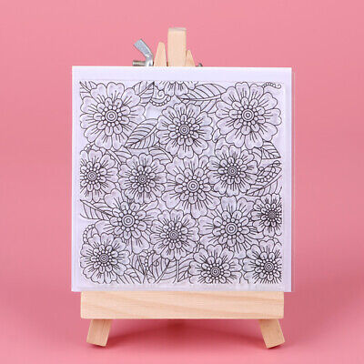 Floral Background Clear Silicone Stamp Rubber Stamps DIY Scrapbooking Card Craft