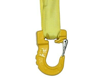 Yellow Endless Round Sling Hook 8,400 lbs Rigging  Belt Wrecker Recovery