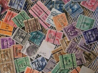 100 Precanceled Mix US PRECANCEL Stamps Majority 1920 - 1930'sG G VG Cond 004