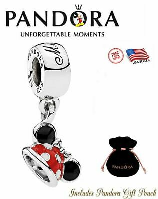 Authentic S925 ALE Pandora Disney Park Minnie Mouse Ear Hat Charm 7501057370327P