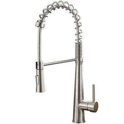 Kitchen Faucet Commercial Pull Out Single Handle Stainless Steel Down Sprayer