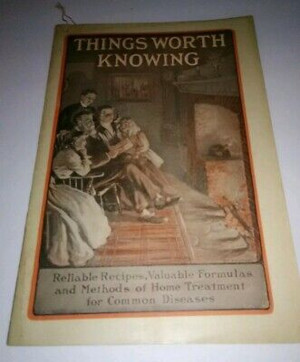 Things Worth Knowing Booklet Dr Williams Pink Pills Quack Medicine Remedies 1910