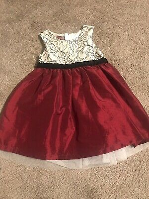 Infant Girls OLD NAVY Holiday Christmas Dress Cream/Black Red Bottom 18-24Months
