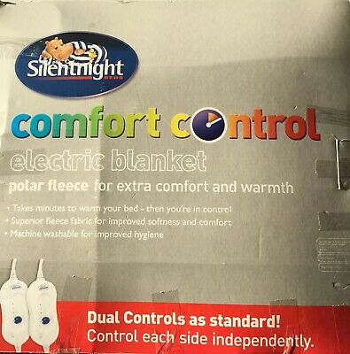 Silentnight Comfort Control King Size Electric Under Blanket - New