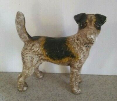Hubley  Terrier Dog Bank Cast Iron Standing Collectible Gift