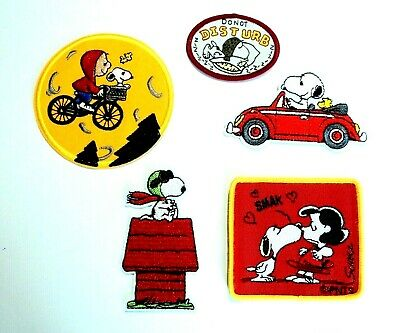 1x Peanuts Cartoon Patches Embroidered Patch Applique Badge Iron Sew On Snoopy