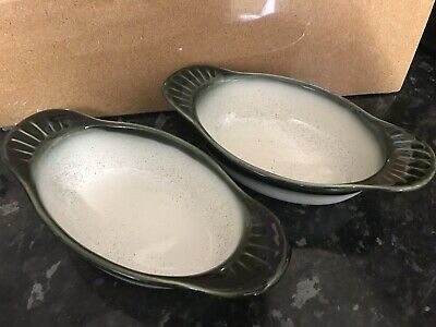 Cloverleaf Vitrified Stoneware England Small Oven Pie Dishes