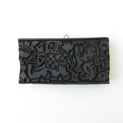 Vintage Wooden Paisly Block Stamp India In Great Condition