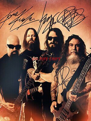 SLAYER autographed photo 8 x 10 Metal Kerry King Tom Araya Repentless REPRINT