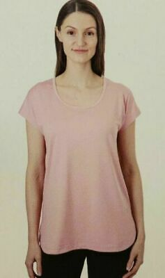 NWT Women's Blush TUFF ATHLETICS Criss Cross Back Shirt Size Medium M