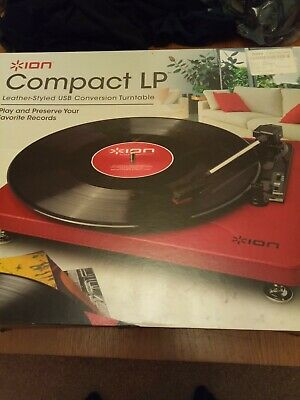 ION Audio Compact LP 3-Speed Vinyl Record Player Turntable with USB Digital Conv
