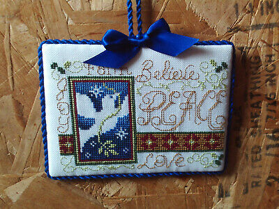 finished completed Stoney Creek Peace Dove Faith Christmas cross stitch ornament