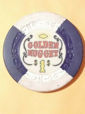 1960s GOLDEN NUGGET CASINO LAS VEGAS NV. $1.00 GAMING CHIP GREAT FOR COLLECTION!