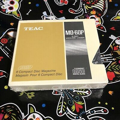 TEAC Compact Disc Magazine 6 Disc CD Changer Cartridge Loader NEW Sealed