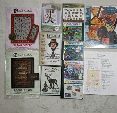 Dakota Collectables, Anita Goodesign, Lunch Box Quilts Embroidery 12 PC Lot Set