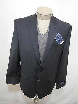 Chaps Men's 70% Wool Blazer Jacket Lined Grey Charcoal Pinstripe Coat 40R $220