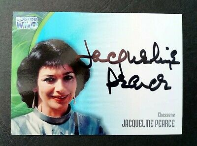 Dr Who Jacqueline Pearce Series 3 Autograph Card AU21 Strictly Ink 2002 MINT