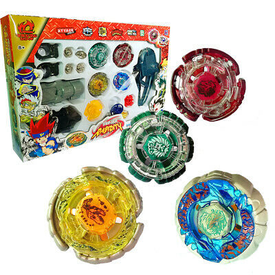 Fusion Masters Rapidity Toy 4D Beyblade Set Kids With Launcher Grip NI