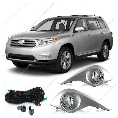 Bumper Cover Lamp Fog Light w/Wiring ASSY x set For Toyota Highlander 2011-2013