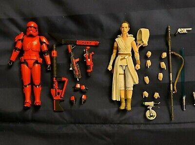 S.H Figuarts Star Wars (The Rise of Skywalker) Rey and Sith Trooper- With Boxes
