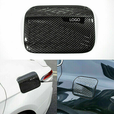 Carbon Fiber Style ABS Fuel Tank Cap Cover Trim for Toyota Camry 2018 2019 2020