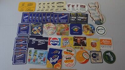80+ x MIXED CIGARETTE COLLECTABLE BEER COASTERS & LABELS ET2