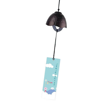 3pcs Japanese Traditional Furin Wind Chime Bell Nanbu Iron Home Garden Decor
