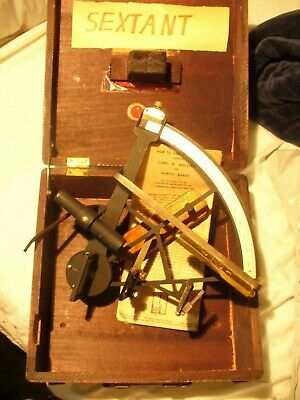 antique sextant with wood box papers 1930 lafayette instruments new york